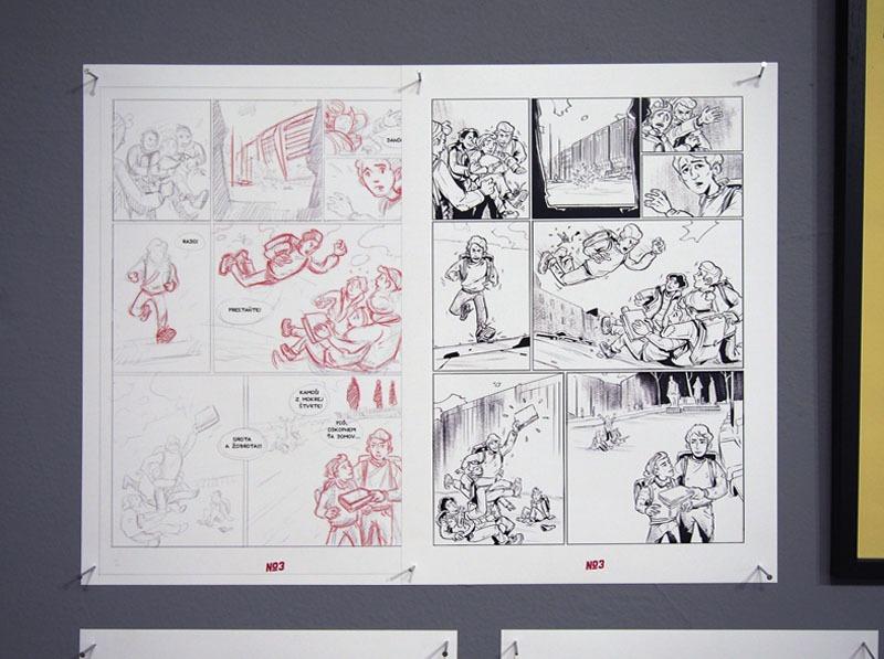 Skica z pripravovaného pokračovania komiksu Nežný komiks © ArtAttack