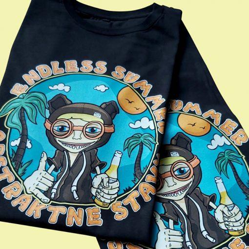 Endless Summer čierne - Abstraktné stavy / tričko