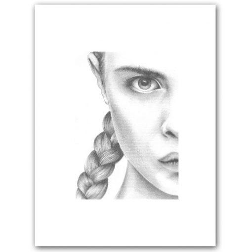 Cara Study - K. Branišová - Abstraktné stavy / grafika