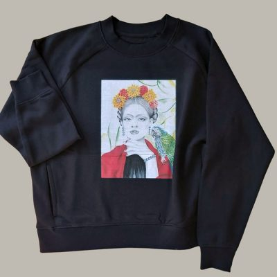 Frida, čierna - Abstraktné stavy / mikina