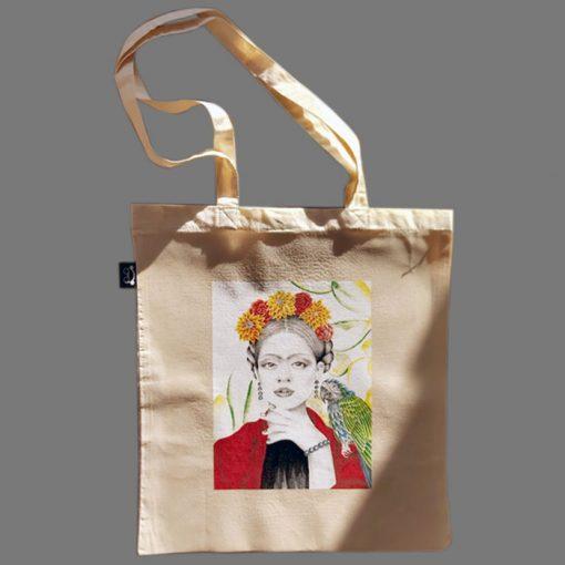 Tote Bag Frida - Abstraktné stavy / plátená taška