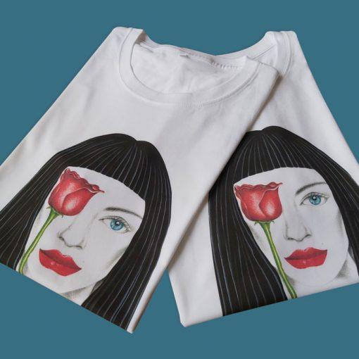 Roses are red biele - Abstraktné stavy / tričko