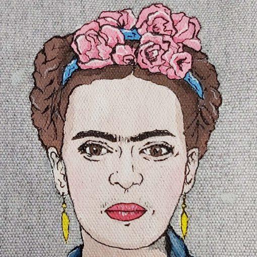 Kozmetická taštička Frida - Abstraktné stavy / plátená taška