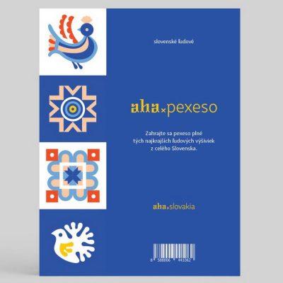 AHA Slovenské výšivky modré / pexeso