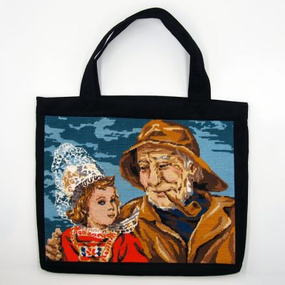 Veľká taška s výšivkou - Dedo / Bartinki