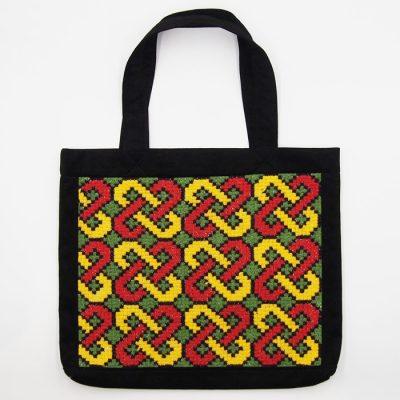 Veľká taška s farebným vzorom / Bartinki