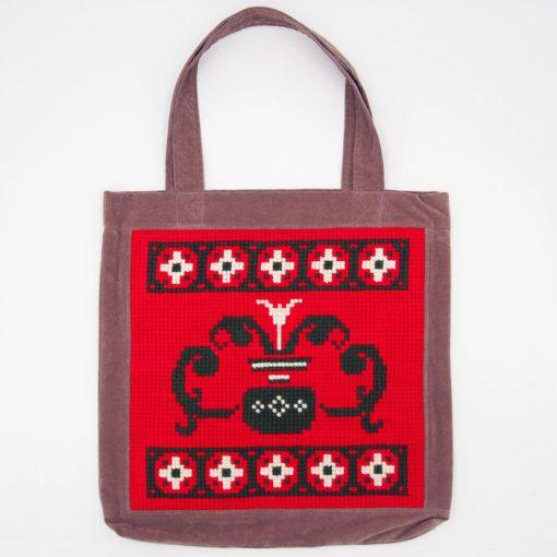 Veľká taška s červeným vzorom / Bartinki