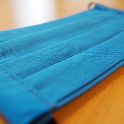 Modré bavlnené dvojvrstvové rúško na tvár