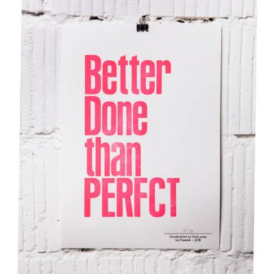 better done than perfct A4 print
