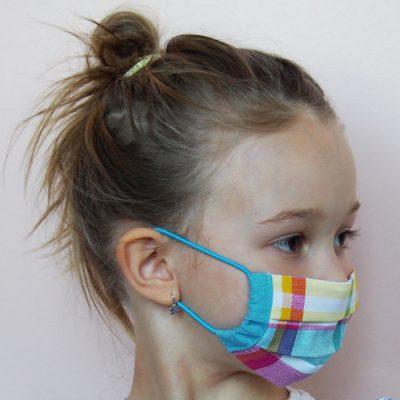 Farebné detské bavlnené rúško na tvár