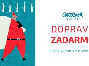 Doprava ZADARMO na všetky objednávky prijaté počas Vianočných sviatkov 2019