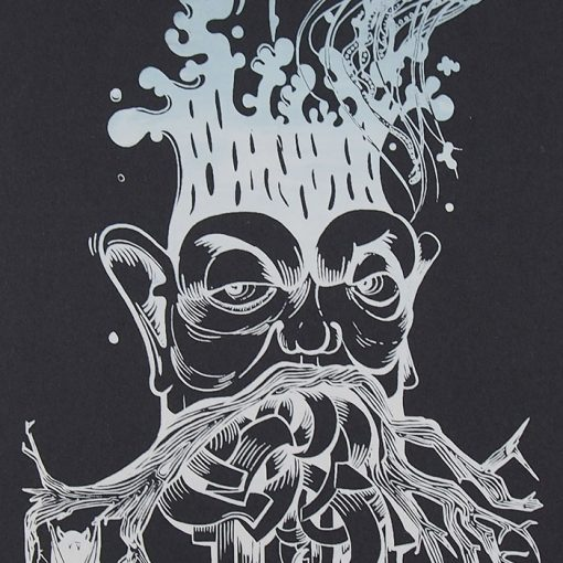 The Tree Nerd, čierny - Emília Jesenská / grafika