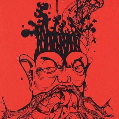 The Tree Nerd, neónovo oranžový - Emília Jesenská / grafika