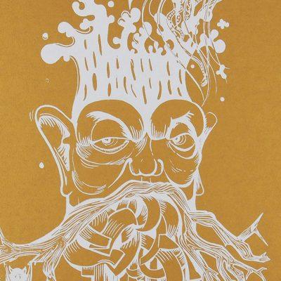 The Tree Nerd, zlatý - Emília Jesenská / grafika