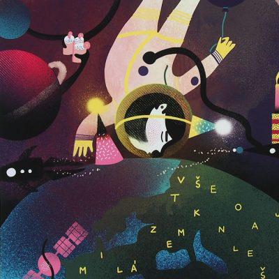 Vesmírna oslava - Han, A4 / grafika