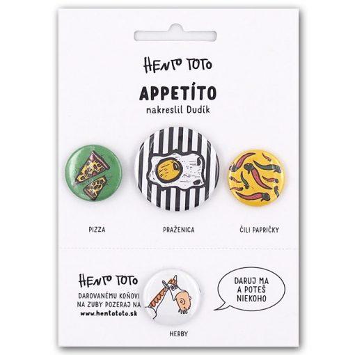 Apetito - Hento Toto / sada odznakov