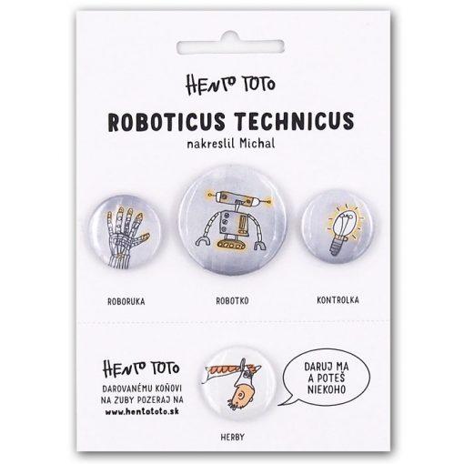 Roboticus Technicus - Hento Toto / sada odznakov