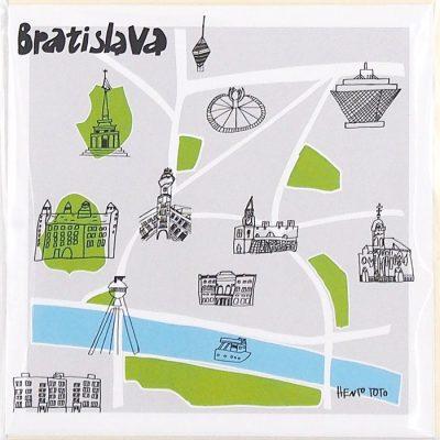 Bratislava mapa - Hento Toto / darčeková karta
