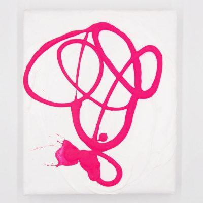 Pink on White II - Hula / maľba na plátne