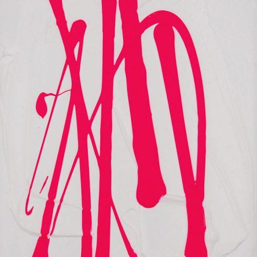 Pink on White - Hula / maľba na plátne