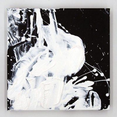 White on Black II - Hula / maľba na plátne