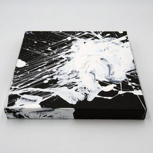 White on black - Hula / maľba na plátne