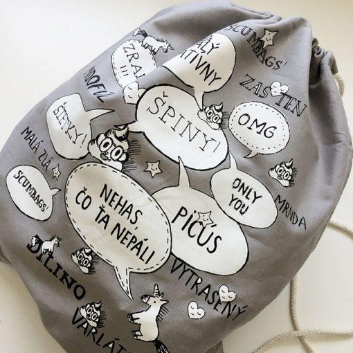 Nadávajúci ruksak šedý / vak