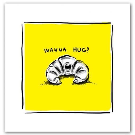 Wanna hug? - K. Koronthályová / grafika