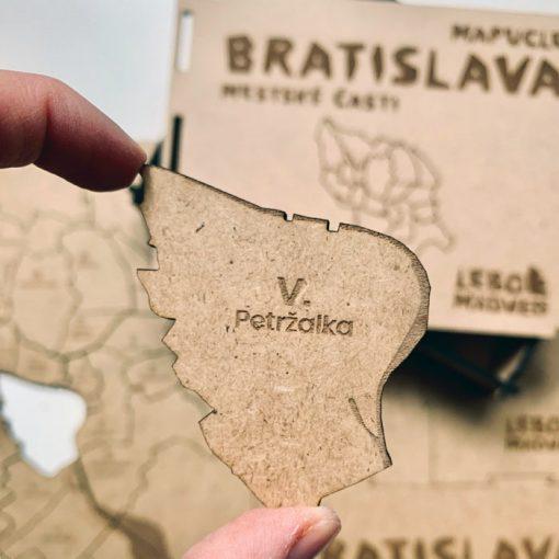 Mapucle Bratislava - mestské časti / náučná skladačka