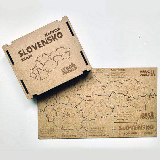 Mapucle Slovensko - kraje / náučná skladačka