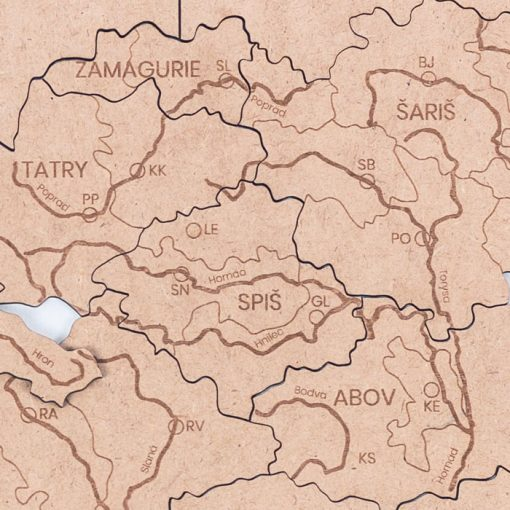 Mapucle Slovensko - regióny / náučná skladačka