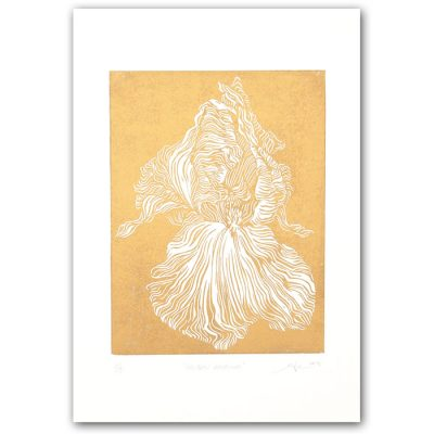 Golden Georgia - Martina Rötlingová / linorytová grafika 21 x 30cm
