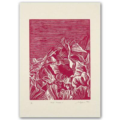 Rose Pivoine II. - Martina Rötlingová / linorytová grafika 21 x 30cm