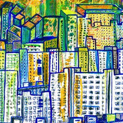 Happyslava: Petržalka, pohľad z mesta - Matteo Sica / grafika