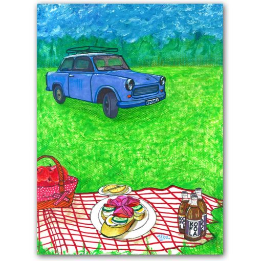 Happyslava: Piknik, trabant a chlebíčky - Matteo Sica / grafika