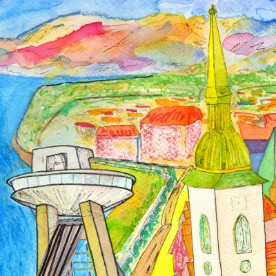 Happyslava: Ufo a Dóm sv. Martina - Matteo Sica / grafika