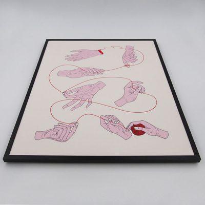 Fibre of Society - Mili Vigerová / grafika v ráme