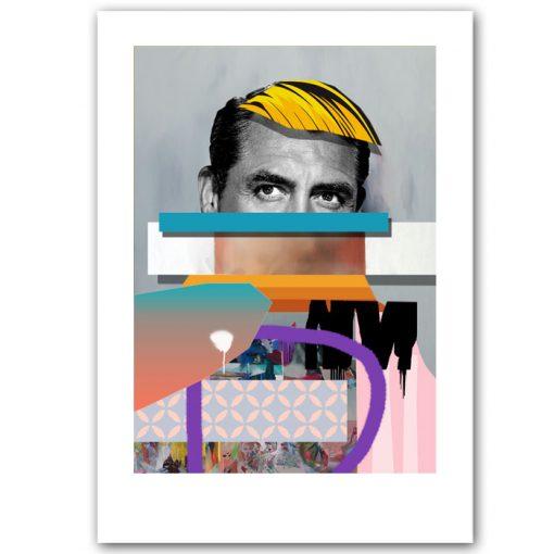 Man with a Wig - Miloš Hronec/ grafika