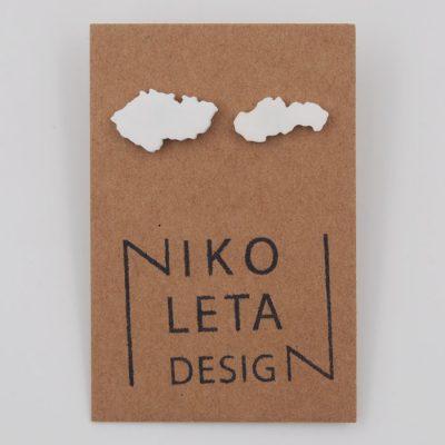 Czechoslovakia biele - Nikoleta Design / náušnice