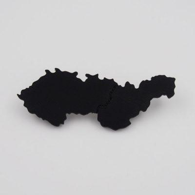 Czechoslovakia čierna - Nikoleta Design / brošňa