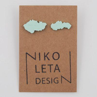 Czechoslovakia mentol - Nikoleta Design / náušnice