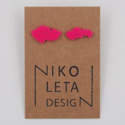 Czechoslovakia ružové - Nikoleta Design / náušnice