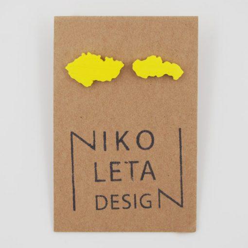 Czechoslovakia žlté - Nikoleta Design / náušnice
