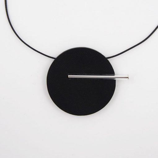 Kruh veľký, čierny - Nikoleta Design / náhrdelník