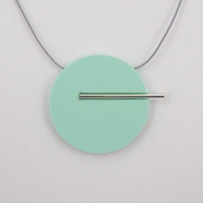 Kruh veľký, mentol - Nikoleta Design / náhrdelník