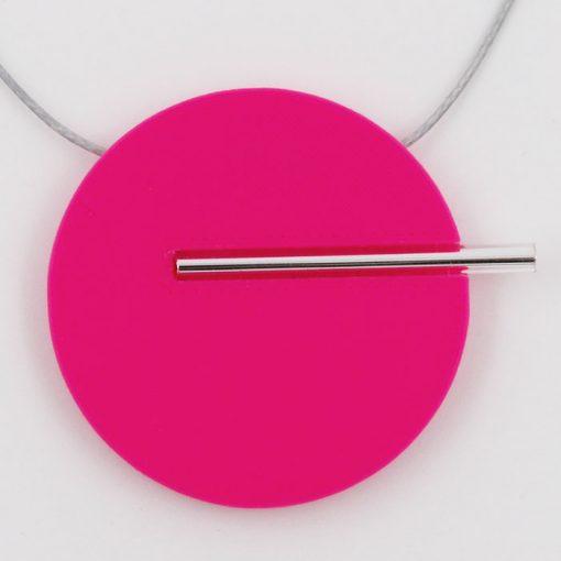 Kruh veľký, ružový - Nikoleta Design / náhrdelník