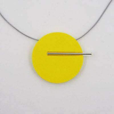 Kruh veľký, žltý - Nikoleta Design / náhrdelník