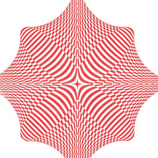 Rombus - opt art series, biely - David Mascha, 32 x 32 cm - Pressink / grafika