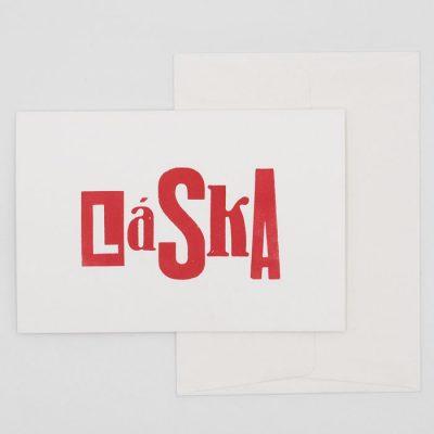 Láska - letterpress - Pressink / pohľadnica