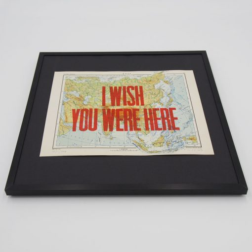 I wish you were here, 32 x 32 cm - Pressink / grafika v ráme